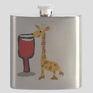 Giraffe Drinking Wine Flask