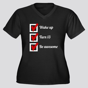 Awesome 13th Birthday Checklist Plus Size T-Shirt