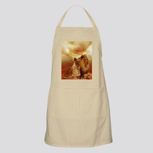 Africa Lion and Lioness Apron