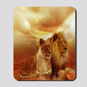 Africa Lion and Lioness Mousepad
