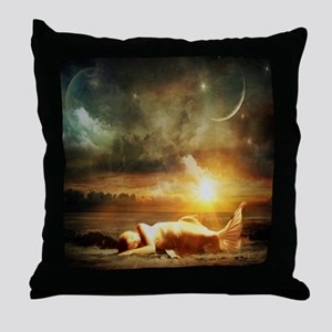 Mermaid Beached Throw Pillow