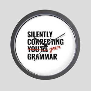 Silently Correcting You're Grammar Wall Clock