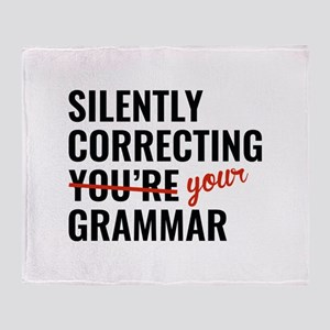 Silently Correcting You're Grammar Stadium Blanket