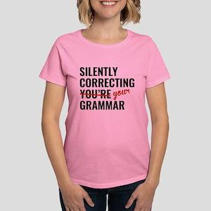 Silently Correcting You're Grammar Women's Dark T-