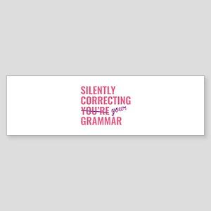 Silently Correcting You're Grammar Sticker (Bumper