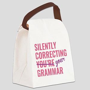 Silently Correcting You're Grammar Canvas Lunch Ba