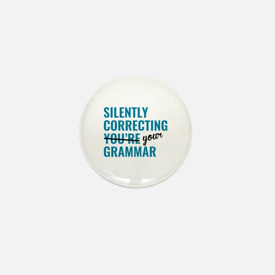 Silently Correcting You're Grammar Mini Button