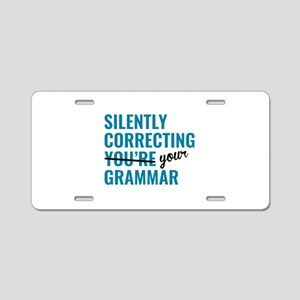 Silently Correcting You're Grammar Aluminum Licens