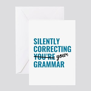 Silently Correcting You're Grammar Greeting Card