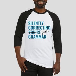 Silently Correcting You're Grammar Baseball Jersey