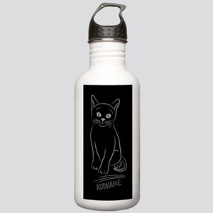 Silver and Black Hand Stainless Water Bottle 1.0L