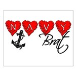Navy Brat hearts Small Poster