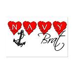 Navy Brat hearts  Mini Poster Print