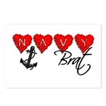 Navy Brat hearts Postcards (Package of 8)