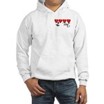 Navy Brat hearts Hooded Sweatshirt
