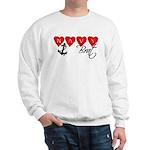 Navy Brat hearts Sweatshirt