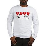 Navy Brat hearts Long Sleeve T-Shirt