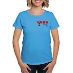 Navy Brat hearts Women's Dark T-Shirt