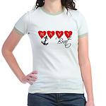 Navy Brat hearts Jr. Ringer T-Shirt