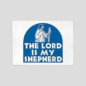 The Lord is my Shepherd 5'x7'Area Rug