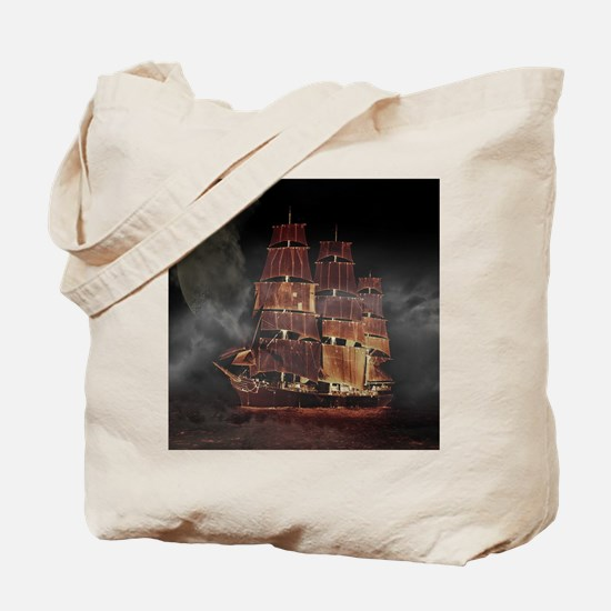 Cute Pirate ships Tote Bag