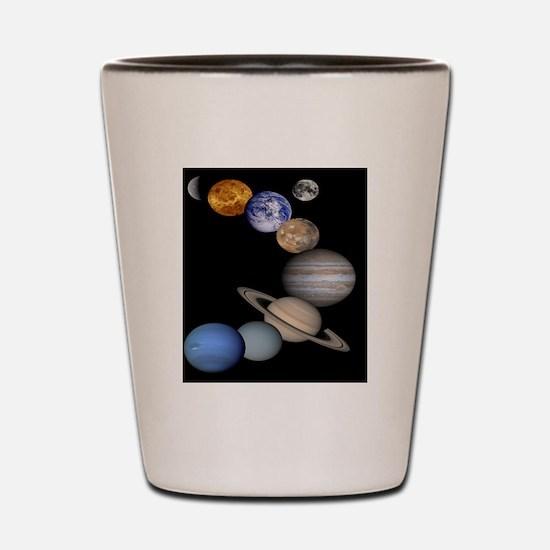 Orbiting Planets Shot Glass