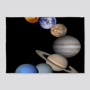 Orbiting Planets 5'x7'Area Rug