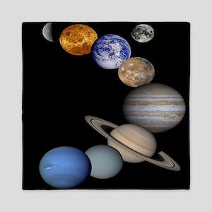 Orbiting Planets Queen Duvet
