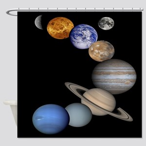 Orbiting Planets Shower Curtain
