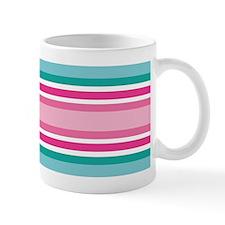 Cute Pink and Aqua Stripes Mugs