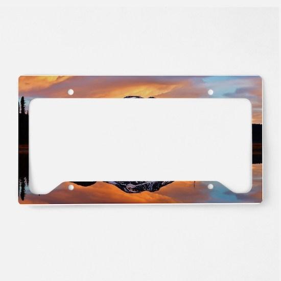 Sunset over 3 Sisters License Plate Holder