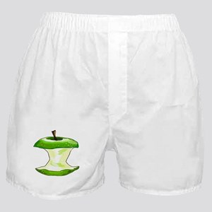 Green Apple Core Boxer Shorts
