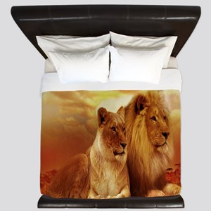 Africa Lion and Lioness King Duvet
