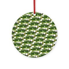 Largemouth Bass Pattern Ornament (Round)