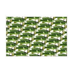 Largemouth Bass Pattern Posters