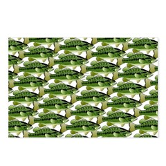 Largemouth Bass Pattern Postcards (Package of 8)