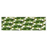 Largemouth Bass Pattern Bumper Sticker