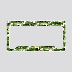 Largemouth Bass Pattern License Plate Holder