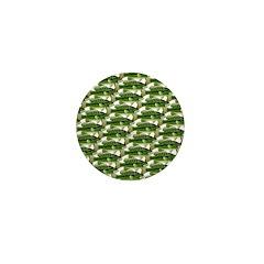 Largemouth Bass Pattern Mini Button (10 pack)