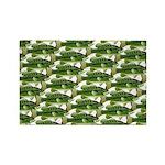 Largemouth Bass Pattern Magnets