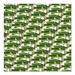 Largemouth Bass Pattern Square Car Magnet 3