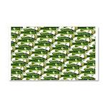 Largemouth Bass Pattern Car Magnet 20 x 12
