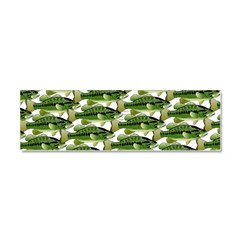 Largemouth Bass Pattern Car Magnet 10 x 3