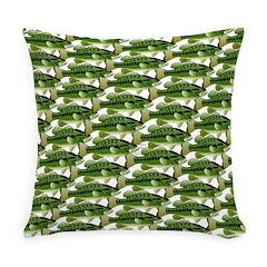 Largemouth Bass Pattern Everyday Pillow
