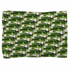 Largemouth Bass Pattern Pillow Sham
