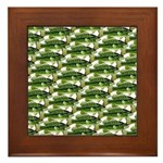 Largemouth Bass Pattern Framed Tile