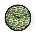 Largemouth Bass Pattern Wall Clock