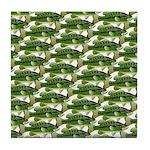 Largemouth Bass Pattern Tile Coaster
