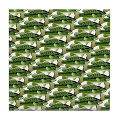 Largemouth Bass Pattern Tile Coaster