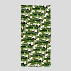 Largemouth Bass Pattern Beach Towel